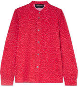 Vanessa Seward Bamboo Printed Cotton Shirt - Red