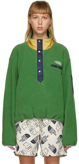 Brain Dead Green The North Face Edition Fleece Pullover Sweatshirt