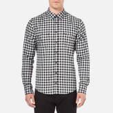 BOSS ORANGE Men's Edoslime Flannel Check Shirt Black