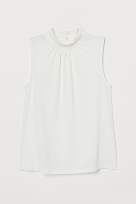 H&M Stand-up collar jersey top