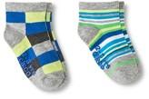 Circo Baby Boys' Colorblocked Low Cut Sock 2 pk Gray 6-12 M
