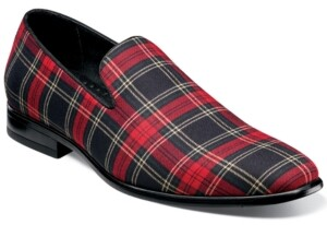 Stacy Adams Men's Steward Plain-Toe Plaid Slip-Ons Men's Shoes