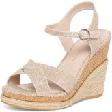 Dorothy Perkins Womens Gold 'Roxy' Espadrille Wedges- Gold