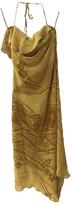 Ungaro Green Silk Dress for Women Vintage