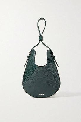 S.JOON Teardrop Lizard-effect Leather Tote - Emerald