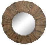 Threshold Round Wood Mirror 28