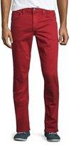 Joe's Jeans Neutral Slim-Fit Twill Pants, Red