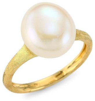 Marco Bicego Africa 18K Yellow Gold & 11MM-12MM Round Freshwater Pearl Cocktail Ring