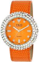 TKO ORLOGI Women's TK618OR Leather Crystal Slap Watch