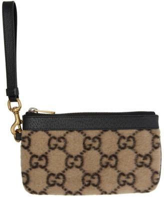 Gucci Beige Wool GG Wallet