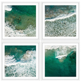 Splashing Surf Quadriptych (Framed Giclee)