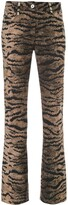 Giambattista Valli tiger print flare trousers