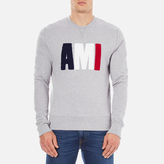 Ami Men's Logo Crew Neck Sweatshirt Heather Grey