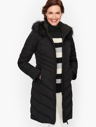 Talbots Faux Fur Trim Down Puffer Coat