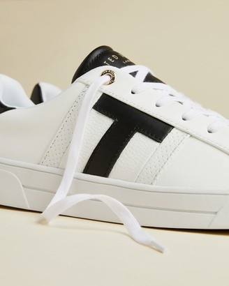 Ted Baker T Detail Leather Trainers