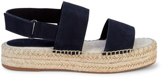 Splendid Aubrey Suede Espadrille Flatform Slingback Sandals