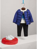 Burberry Down-filled Quilted Jacket , Size: 12M, Blue