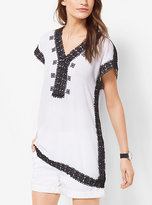 Michael Kors Embroidered V-Neck Tunic Plus Size