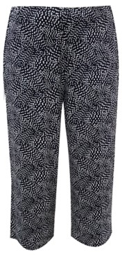 Alfani Cropped Dot-Print Pants, Created for Macy's
