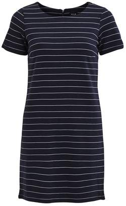 Vila Striped Mid-Length T-Shirt Dress with Short Sleeves