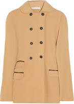Giardino double-breasted wool-blend cardi-coat