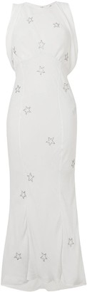 ATTICO Embroidered Stars Long Dress