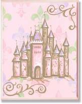 Stupell Industries The Kids Room Castle with Fleur De Lis on Rectangle Wall Plaque
