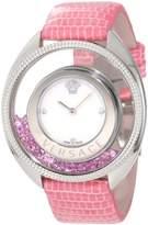 Versace Women's 86Q951MD497 S111 Destiny Spirit Floating Micro Spheres Pink Leather Watch