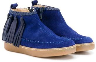 Pépé Zip-Up Tassel Ankle Boots