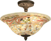 Dale Tiffany Mosaic Art Glass Semi-Flush Ceiling Fixture