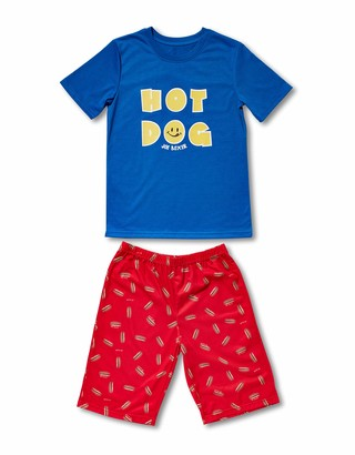 Joe Boxer boys Hot Dog Tee/Short Pajama Sets