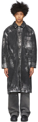 Tanaka SSENSE Exclusive Black and Silver Jean Coat