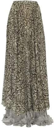 Jiri Kalfar Double Layered Skirt With Slit