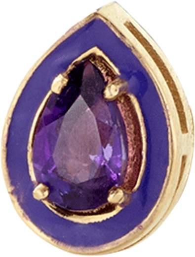 Alison Lou Amethyst Single Stud Earring