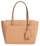 Tory Burch Small Parker Leather Tote - Beige