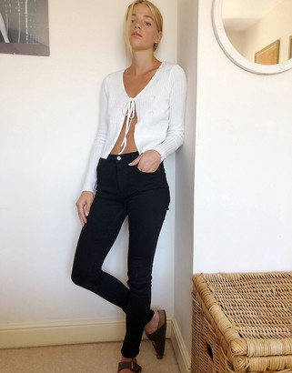 French Connection skinny jeans in black