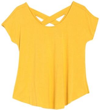 Bobeau Crisscross Back T-Shirt