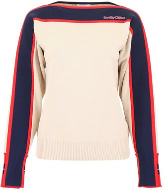 See by Chloe Logo Stripe Sweater