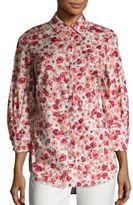 Lela Rose Floral Button Front Shirt