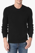 7 For All Mankind Crewneck Sweater In Black