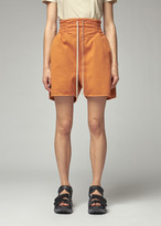 Rick Owens Women's Boxer Short in Tangerine Size Small