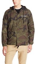 Obey Men's Hooded Coaches Jacket