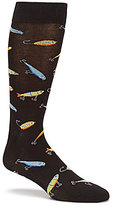 K. Bell Fishing Lures Printed Crew Socks