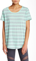 Andrew Marc Striped Scoop Neck Tee