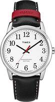Timex Men's 40th Anniversary Easy Reader White Dial with a Leather Strap Watch TW2R40000