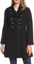 GUESS Women's Double Breasted Fit & Flare Coat