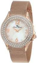 Lucien Piccard Women's 11674-RG-22MOP Balmhorn Gold-Tone Stainless Steel Mother-Of-Pearl Dial Watch