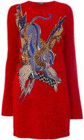 Balmain embroidered sweater dress