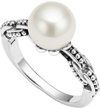 Lagos Luna 9mm Pearl-Link Ring, Size 7