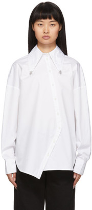 Tibi White Poplin Ant Beaded Shirt